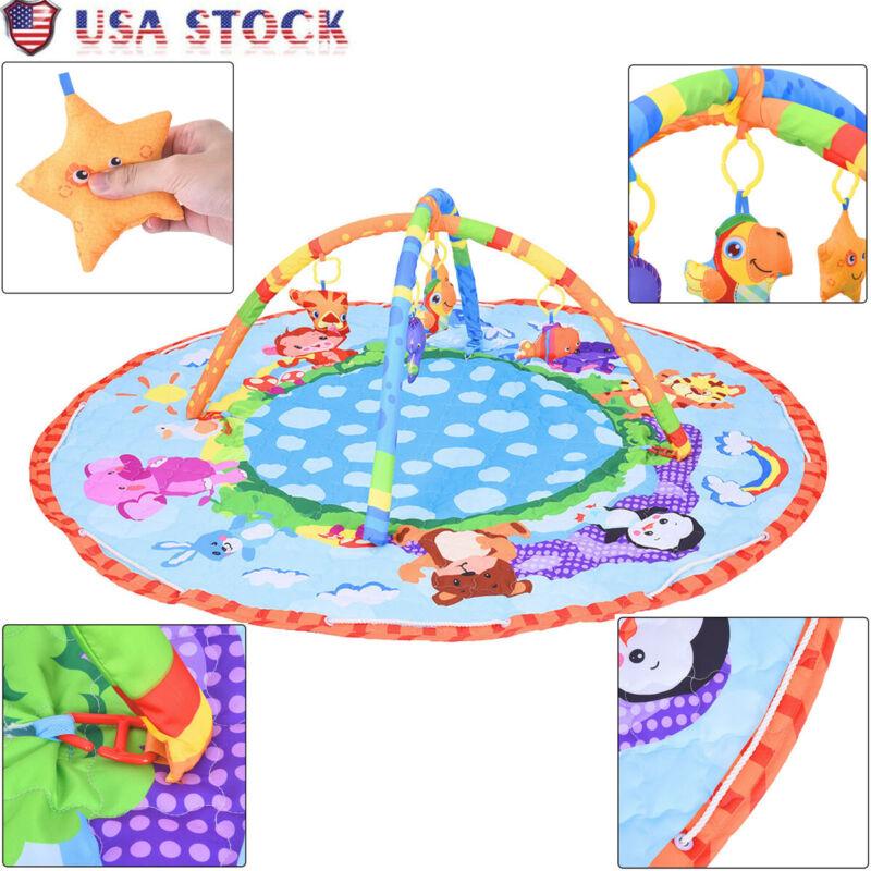 Infant Newborn Baby Play Set Activity Gym Playmat Floor Rug