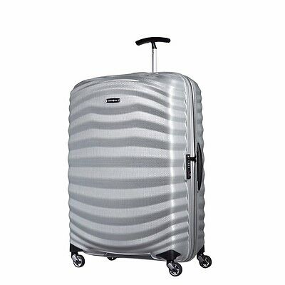 "NEW Samsonite Lite Shock 28"" SILVER Carry on Luggage 4-wheeled 80316-1776"