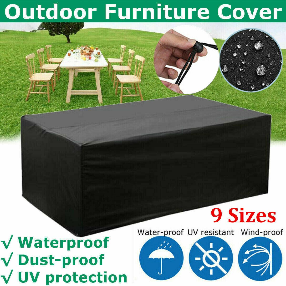 Garden Furniture - Waterproof Outdoor Furniture Cover Garden Patio Rain UV Sofa Table Protector AU