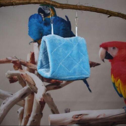 Pet Bird Parrot Parakeet Budgie Warm Hammock Cage Hut Tent Bed Hanging Cave NT5Z
