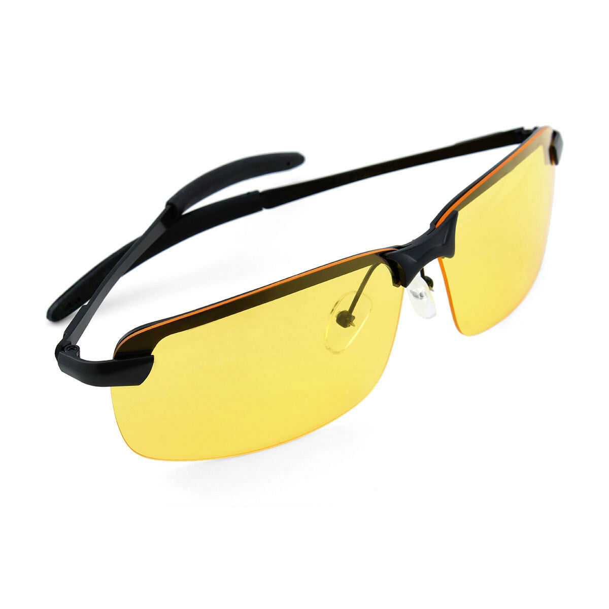 3e2699934bf Sunglasses Mens HD Polarized Anti Glare Night Driving Glasses Gents Yellow  Lens