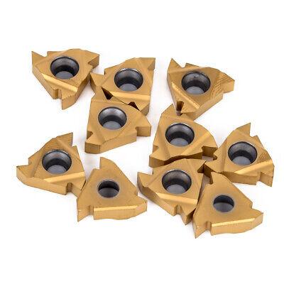 10pcs Ag60 16 Er Carbide Threading Insert For External Turning Tool Holder Gt