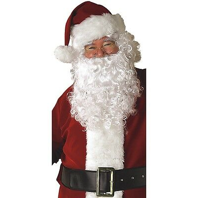 Santa Claus Wig And Beard Set (Santa Beard and Wig Set Adult Santa Claus Costume Christmas Fancy)