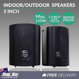 """Free Delivery: 2 x 5"""" Indoor Outdoor Waterproof Speakers 2-W Moorebank Liverpool Area Preview"""