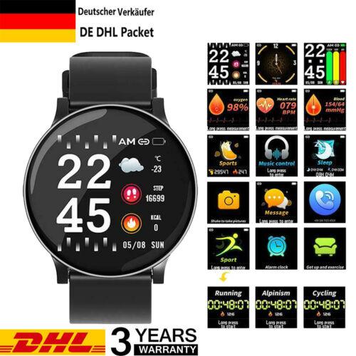 Wasserdicht Smartwatch Armbanduhr Fitness Tracker Pulsuhr Blutdruck Uhr Unisex