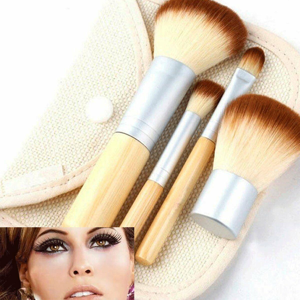 4 pcs pro kabuki makeup brushes set