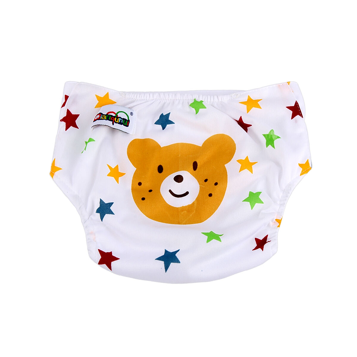 5pcs+ 5INSERT Lovely printing Adjustable Reusable Washable Cloth Diaper Nappies  Bear