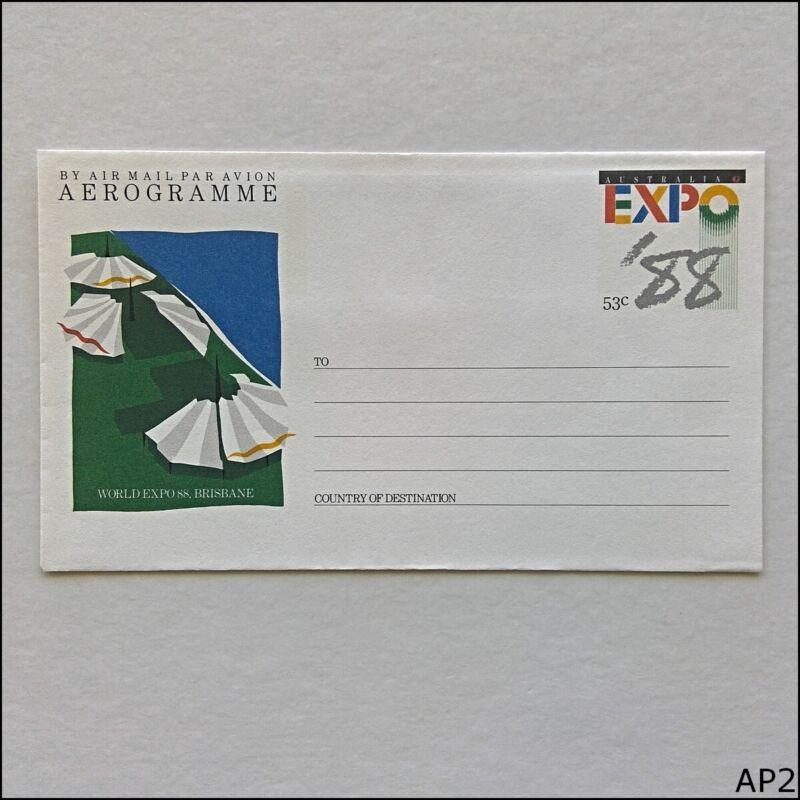 World Expo 88 Brisbane 53c Aerogramme (AP2)