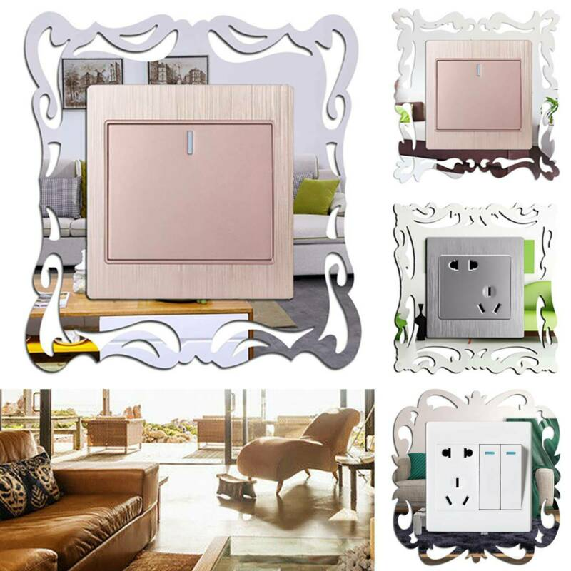 Light Switch Surround Socket Plate Panel Cover Frame Wall Sticker Decor LC