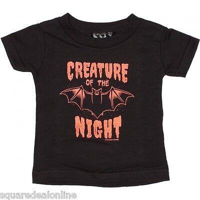 86353 Black Creature of the Night T-Shirt Sourpuss Kids Baby Halloween Goth 12M - 12 Nights Of Halloween