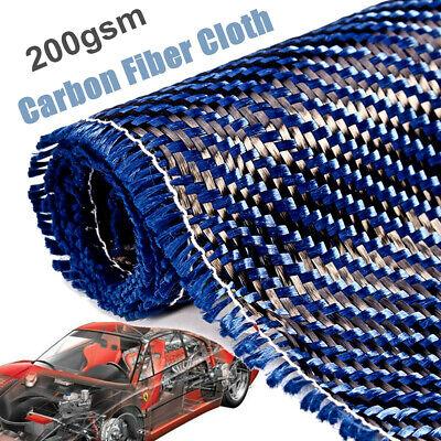 36x12 3k 200gsm Blue Carbon Fiber Cloth Fabric Plain Weave Twill Car