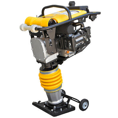6.5hp Gas Jack Rammer Tamper Jumping Jumper Plate Compactor Vibratory W Wheel
