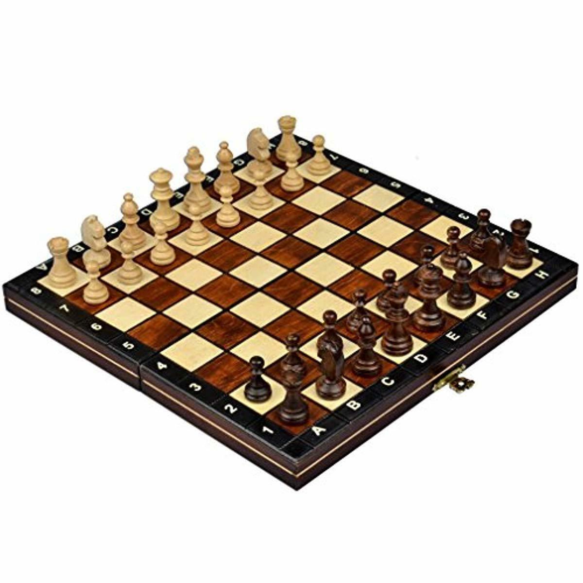 Wegiel Handmade European Travel Magnetic Chess Set - Wooden