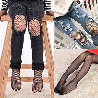 Kids Girls Black Mesh Fishnet Net Pattern Pantyhose Tights Stockings Socks - Fishnet Stockings Girls