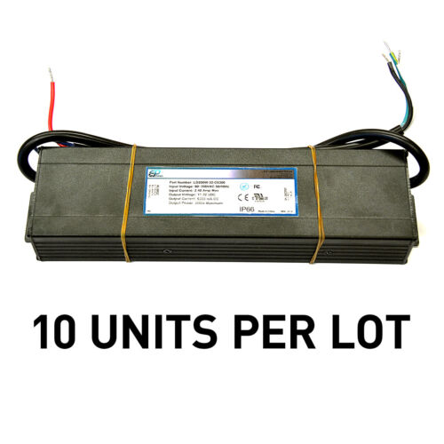 [LOT OF 10] NEW EPtronics 200W LED Drivers Constant Current 6300mA UL Recognized