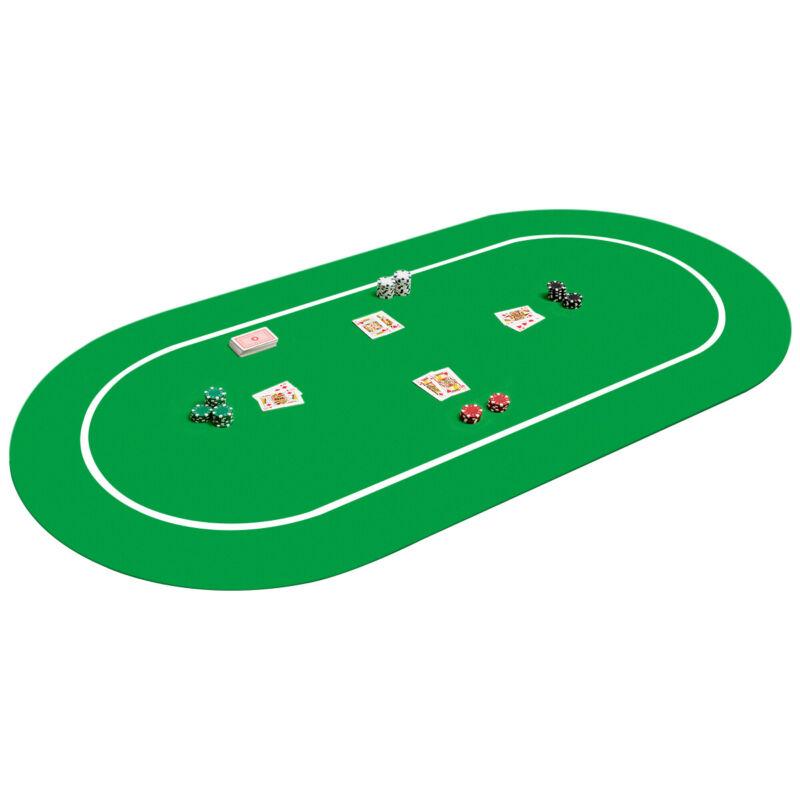 "71"" x 36"" Poker Table Top Layout Rubber Foam Poker Mat 8 Players w/ Carrying Bag"