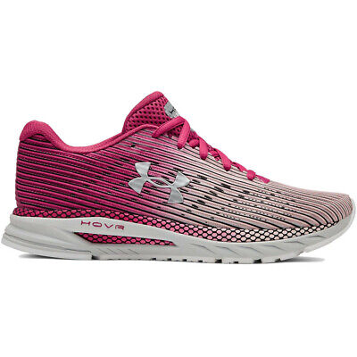 Under Armour Hovr Velociti 2 Women's Running Shoes (Size 8.5) Pink Grey Silver
