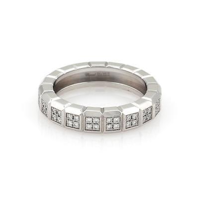 Chopard Diamond Ring Design (Chopard Diamond 18k White Gold 4.5mm Wide Cube Design Band Ring Size)
