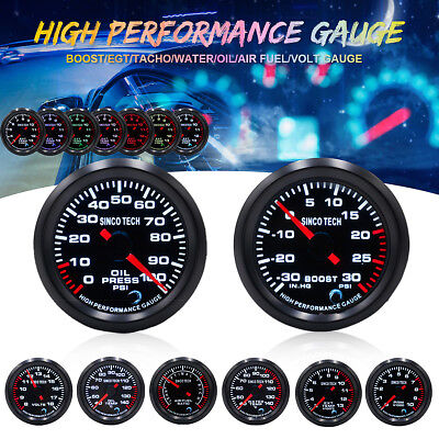 7 Color Boost Exhaust - 7 Color LED Car Turbo Boost/Water/Oil Temp/Press/Tachometer/Exhaust Gas Gauge