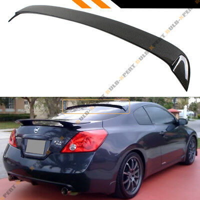 FOR 2007-2013 NISSAN ALTIMA 2DR COUPE JDM CARBON FIBER REAR WINDOW SPOILER WING (Nissan Altima Coupe Rear Spoiler)