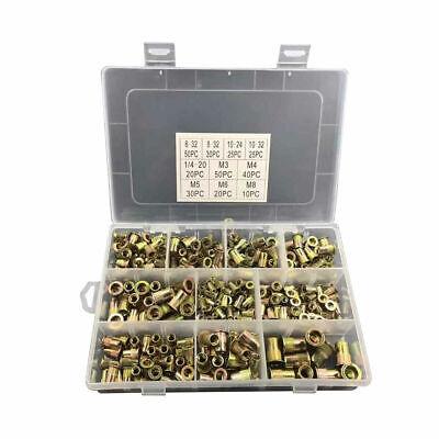 Zinc Steel Rivet Nut Kit Rivnut Nutsert Assortment 150x Metric150x Sae Set Us G