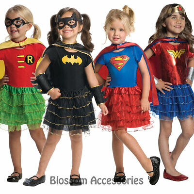 Toddler Girls Robin Costume (CK596 Robin Batgirl Wonder Woman Super Girl Tutu Super Hero Girl Toddler)
