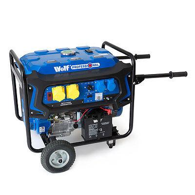 WOLF 7000w 110v 230v Dual Voltage 15HP Petrol ELECTRIC START Generator&Wheel Kit