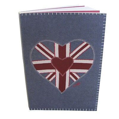 Jan Constantine Union Jack B6 Notebook - Lined & Blank Pages - Paperback (New)