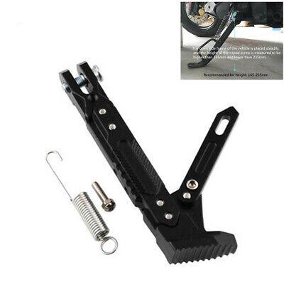 1Pcs Black CNC Motorcycle Adjustable Side Tripod Holder Foot Kick Stand Support