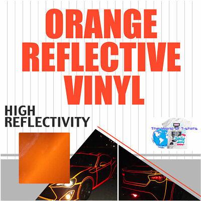 Reflective Orange Sign Vinyl Adhesive Safety Plotter Cutter 12x10ft