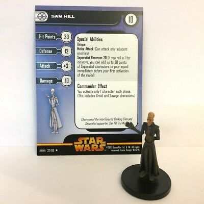 Star Wars Revenge of the Sith #37 San Hill (R) Miniature