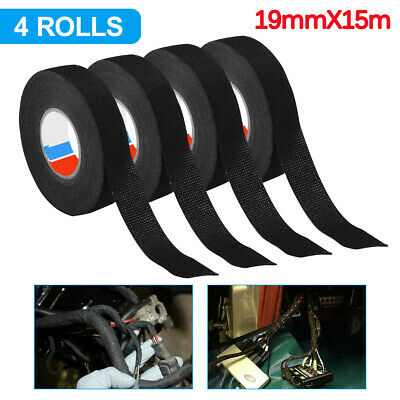 4pcs Rolls Cloth Tape Wire Electrical Wiring Harness Car Auto Suv Truck 19mm15m