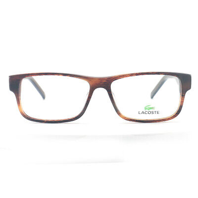 Lacoste Men's Eyeglasses L2660 210 Brown Horn 55 15 140 Full Rim