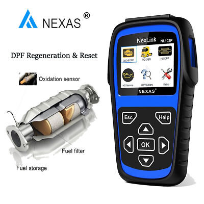 Heavy Duty Truck Diesel Scanner Code Reader DPF Oil Reset Diagnostic Scan Tools