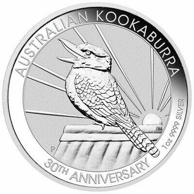 2020 P Australia 1 oz Silver Kookaburra 30th Annv $1 GEM BU SKU59718