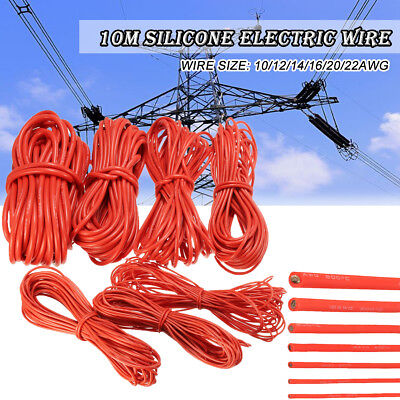10m 12141820awg Silicone Electric Wire Flexible Cable High Temperature 200