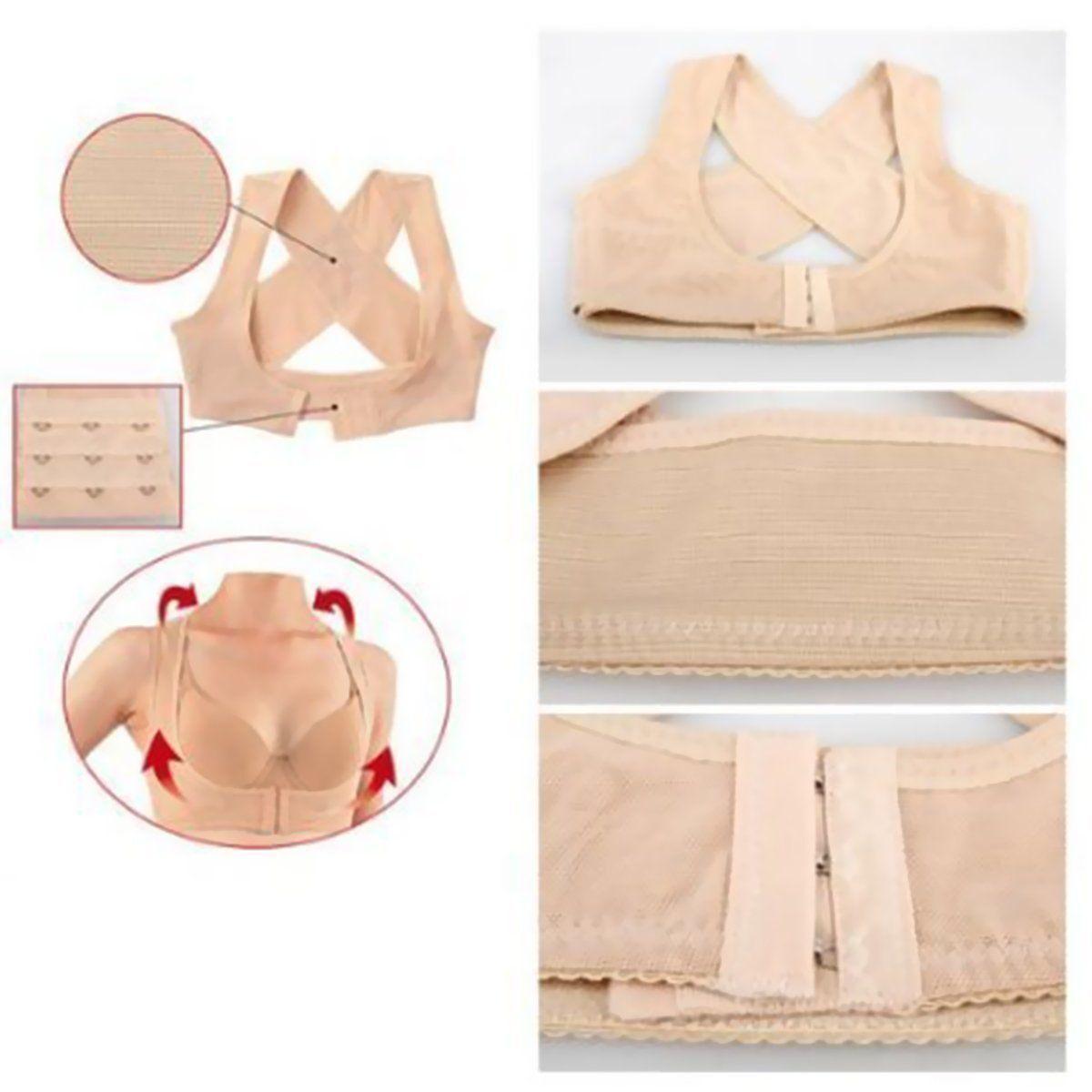 2a066613b8 Details about Chest Brace Up Prevent Humpback Correct Posture Corset Bra X  Strap Vest