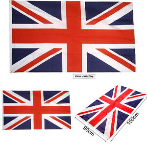 Large Union Jack Flag Great British Sport Olympics Jubilee 3x5FT GB Decor Flags