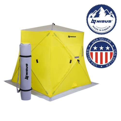 NISUS Prism Pop-up Portable 3-person Ice Fishing Tent Shelter