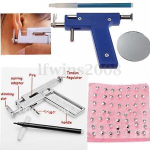 kit outil machine pistolet gun piercing per age nez 98pcs boucle d 39 oreille. Black Bedroom Furniture Sets. Home Design Ideas