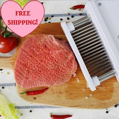 Meat Tenderizer 48 Blades Stainless Steel Hand Press For Steak Chicken Pork