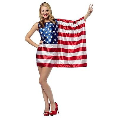 Flag Dress-USA Costume 4th of July Fancy Dress (Costume Of Usa)