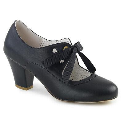 Black Flapper Shoes (Black Lace Up Victorian Era English Period Steampunk 1920s Flapper Heels)