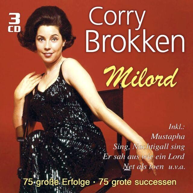 CORRY BROKKEN - MILORD-75 GROßE ERFOLGE  3 CD NEU