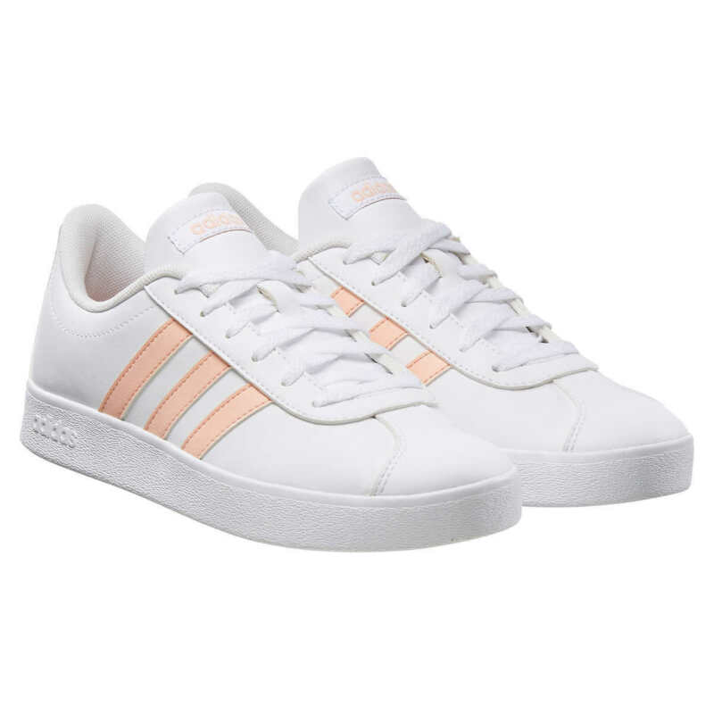 Adidas Kids VL Court 2.0 Sneaker - Girls Tennis Shoe