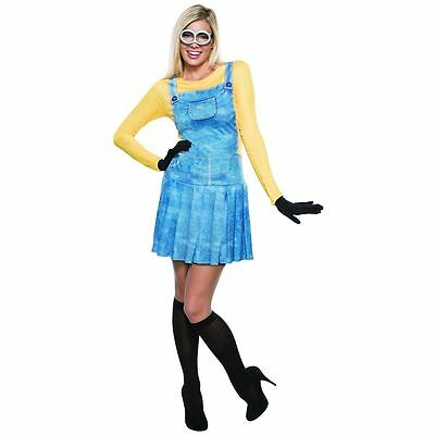 Female Minion Costume for Teen/Adult size XS, S & M New by Rubies 810465
