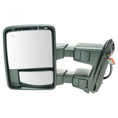 Telescoping Tow Mirror (Tow Mirror Heat Signal Power Folding Telescoping Driver Side Left for Super)