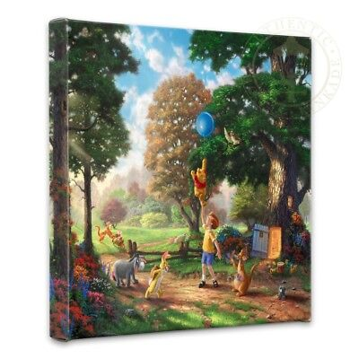 Thomas Kinkade Wrap Winnie the Pooh II 14 x 14 Gallery Wrapped Canvas Disney