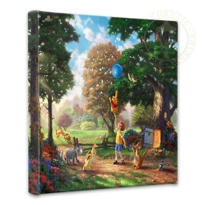 Thomas Kinkade Wrap Winnie the Pooh II 14 x 14 Gallery Wrapped Canvas Disney