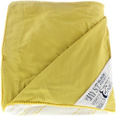 Jay St  Block Company West Elm 6063 Evans Yellow 3Pc Duvet Cover Set Queen Bhfo